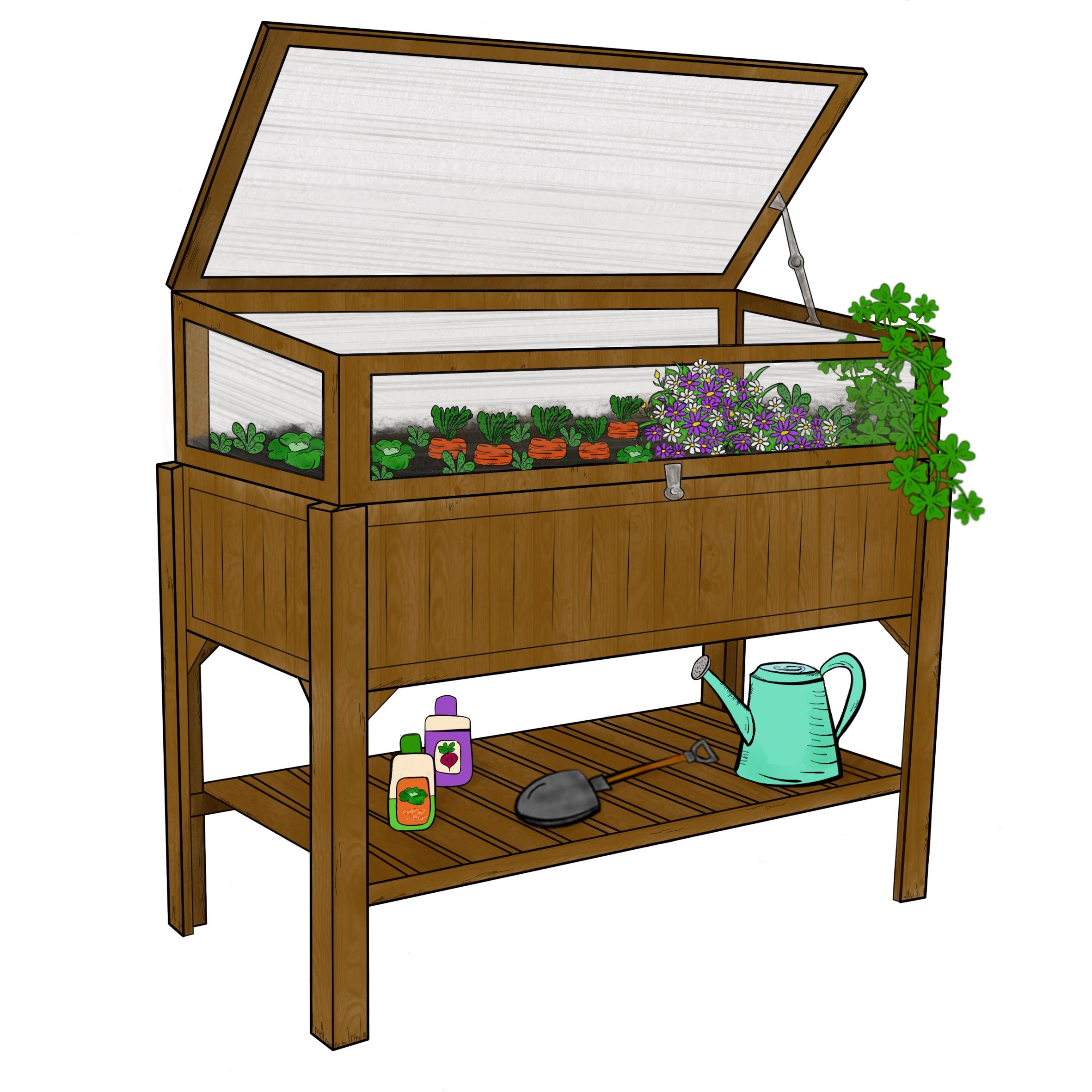 Beste-Gartenhilfen.de-Hochbeet-Gewaechshaus