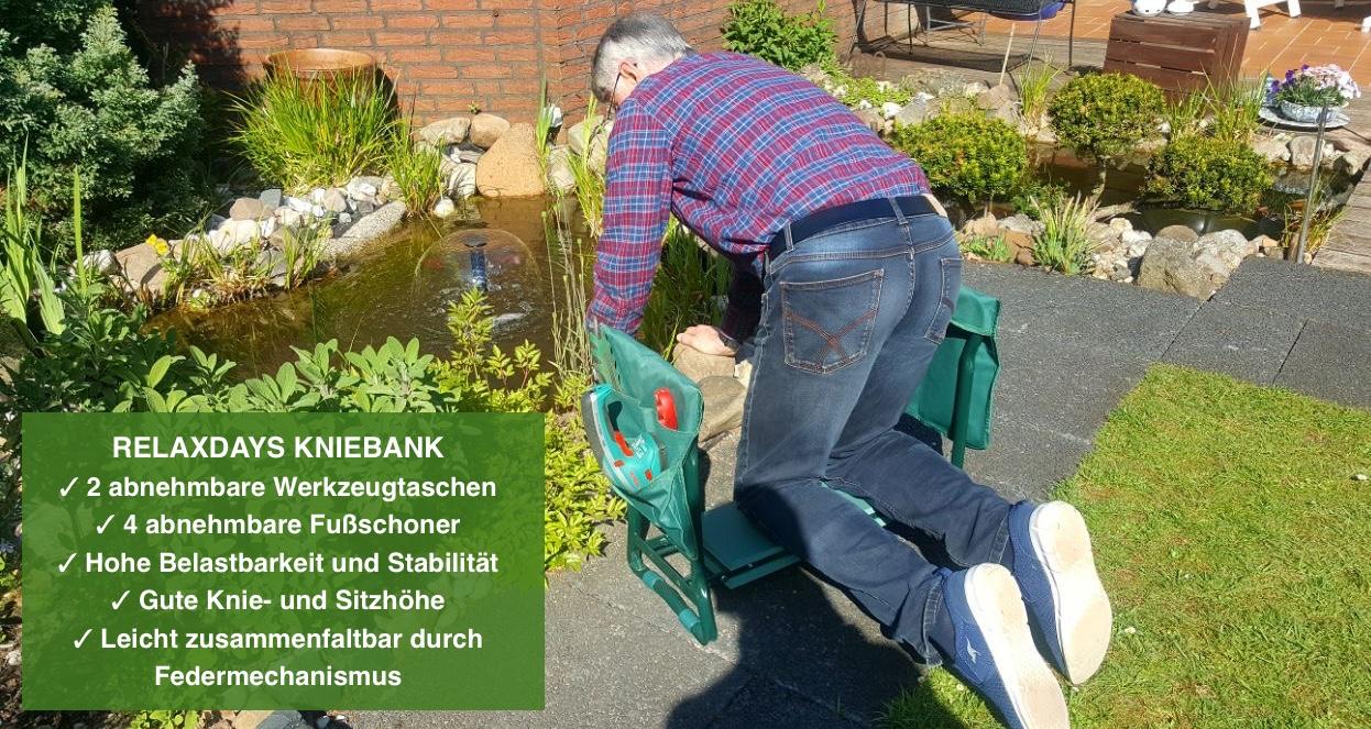 Kniehstuhl Garten - Relaxday Kniehilfe fuer Gartenarbeit